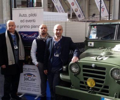 Gen. Giuseppe Maggi, Jacopo Mauceri e Magg. Domenico Colella, Automotoretrò 2018, Torino
